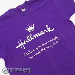 Vintage Hallmark Purple T-Shirt Sz L Made in USA